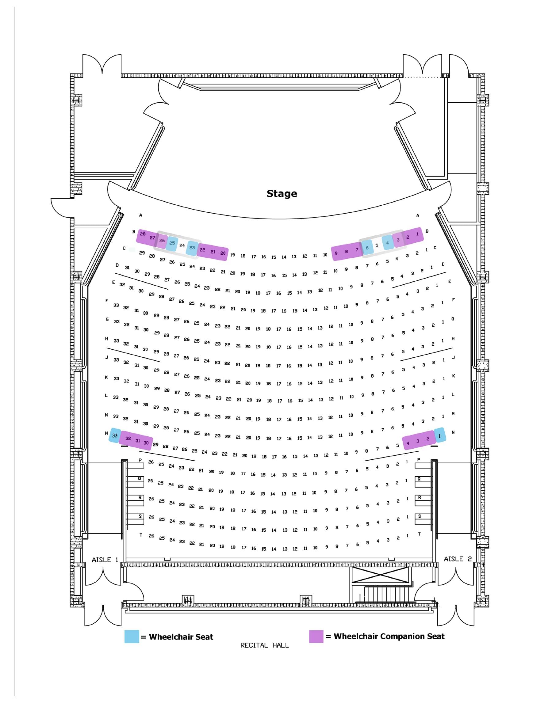 Recital Map Seattle Symphony