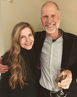 Chihuly with John Luther Adams in Berkeley after the California premiere of Become Desert in April 2018. (Photo courtesy of Leslie Jackson Chihuly)